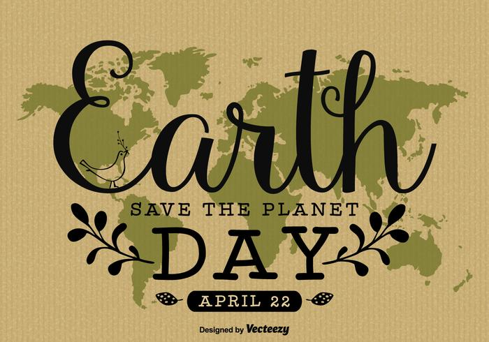 Earth Day Hand Written Poster Design