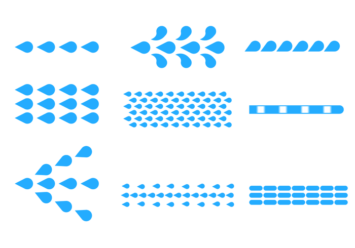 Blue Flat Water Jet Vector