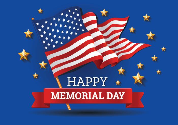 Memorial Day background Template Vector