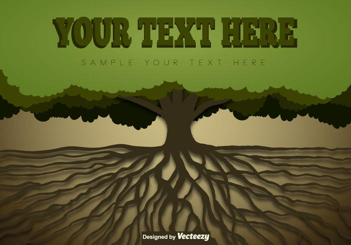 Tree With Roots Template