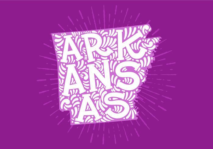 Arkansas State Lettering