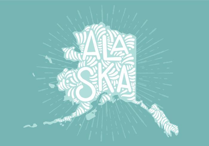 Alaska state lettering