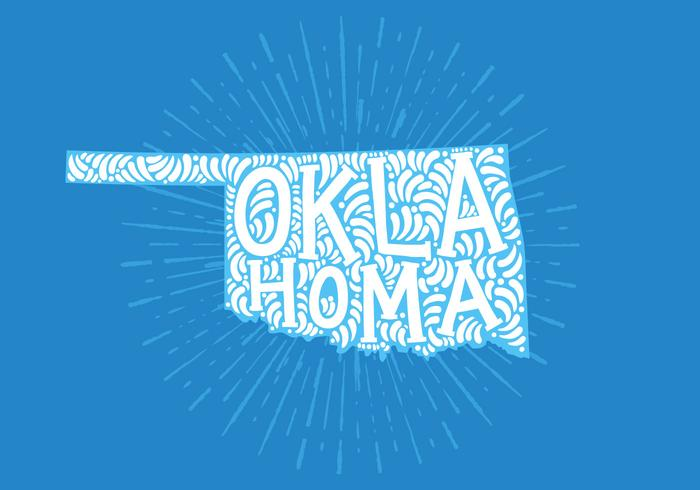 Lettrage de l'état d'Oklahoma