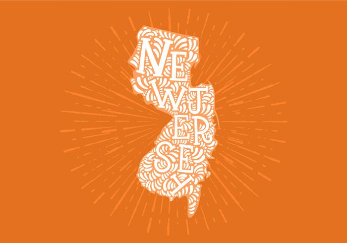 New Jersey state lettering