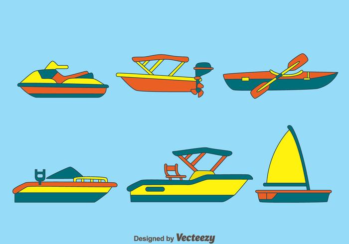 Water Transportation Vectors