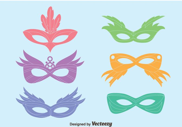 Colorful Masquerade Mask Vectors