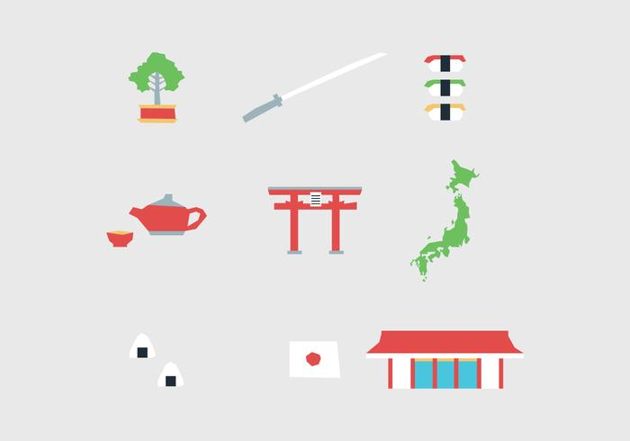Elementos japoneses vetor