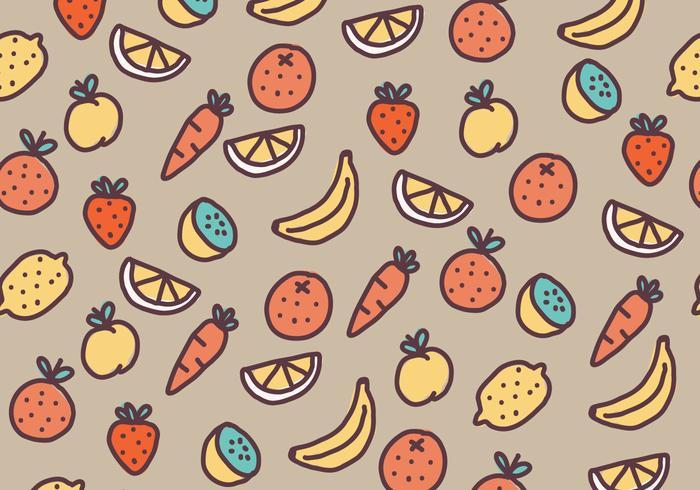 Patrón de frutas y verduras
