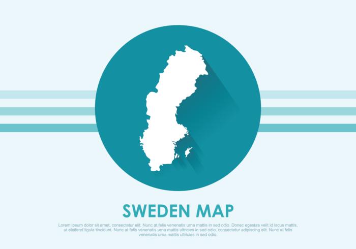 Suecia Mapa Ilustración