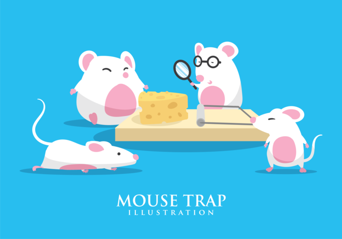 Ilustración de trampa de ratón