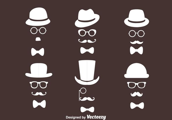 Old Man Retro Style Collection Vectors
