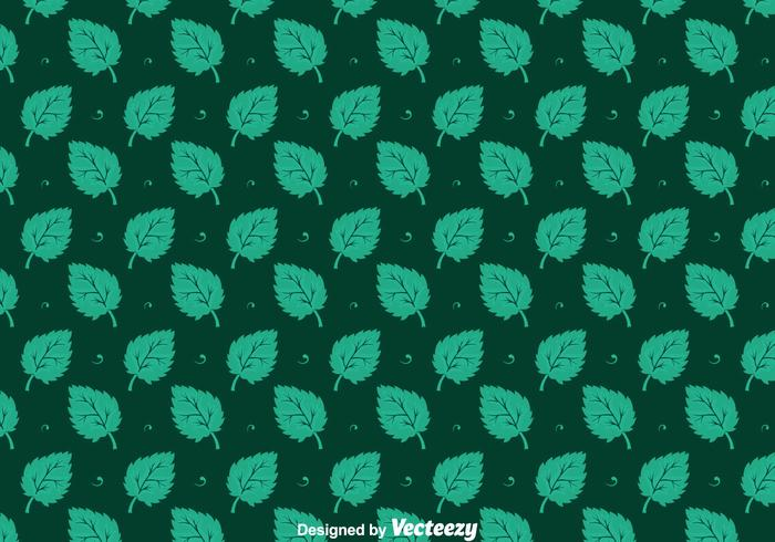 Stevia Leaves Seamless Pattern Vectors