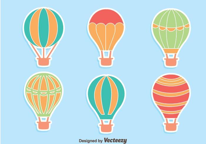 Varmluftsballonginsamlingsvektor