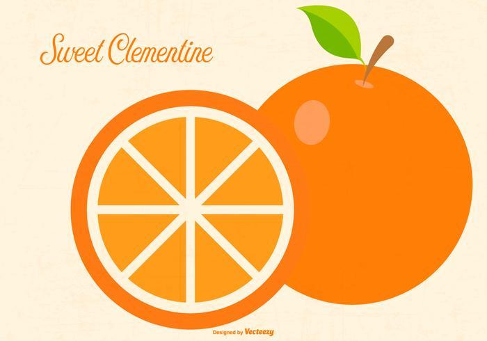 Flat Clementine Ilustração