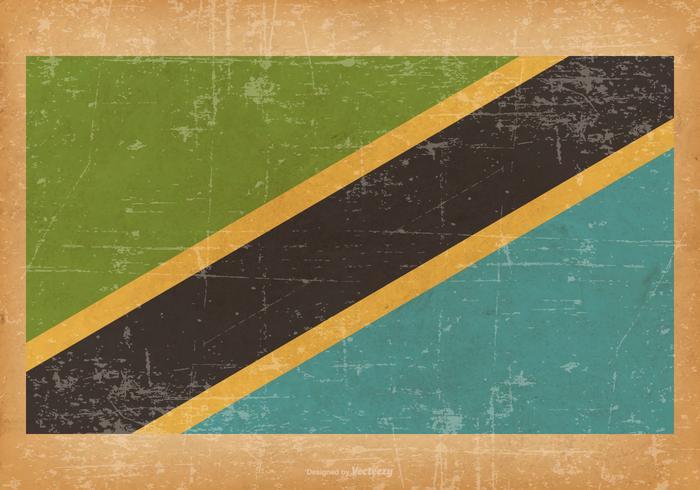 Grunge Bandeira da Tanzânia