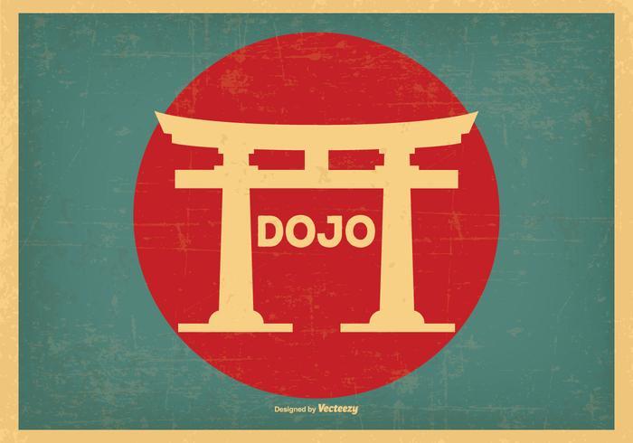 Retro stil Dojo illustration