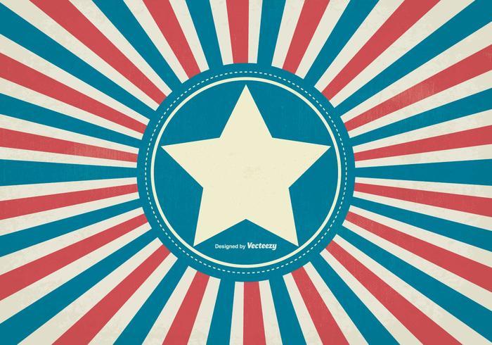 Grunge Retro Style Patriotic Background