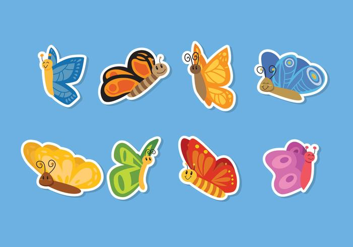 Vector Mariposa de dibujos animados