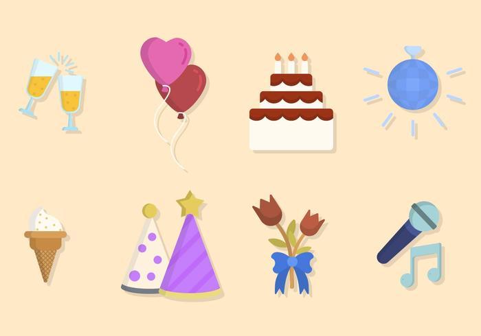 Plano, aniversário, vetores