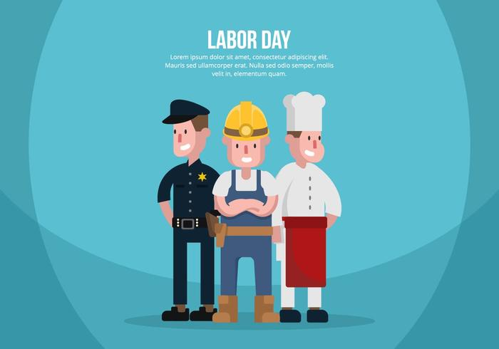 Ilustración del Día del Trabajo vector