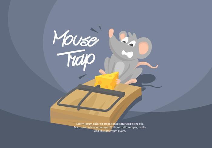Ilustração do rato armadilha