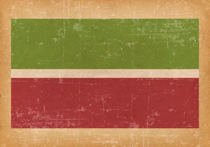 Drapeau grunge du Tatarstan vecteur