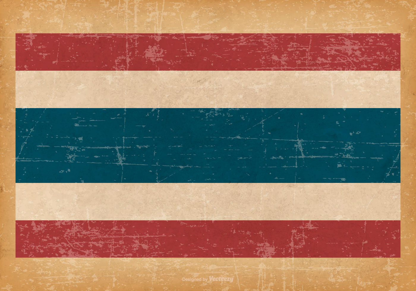 Grunge Flag Of Thailand Download Free Vector Art Stock