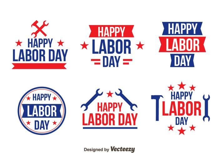 Happy Labor Day Logo Vectors