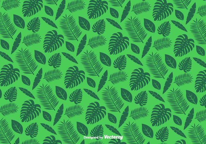 Padrão De Folhas Verdes - Vector