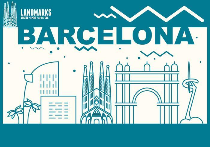 Barcelona Stadt Skyline