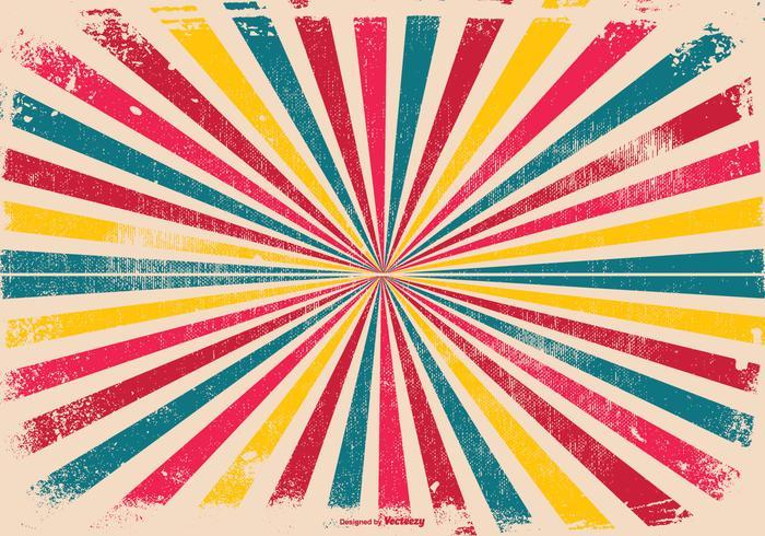 Kleurrijke Grunge Sunburst Achtergrond