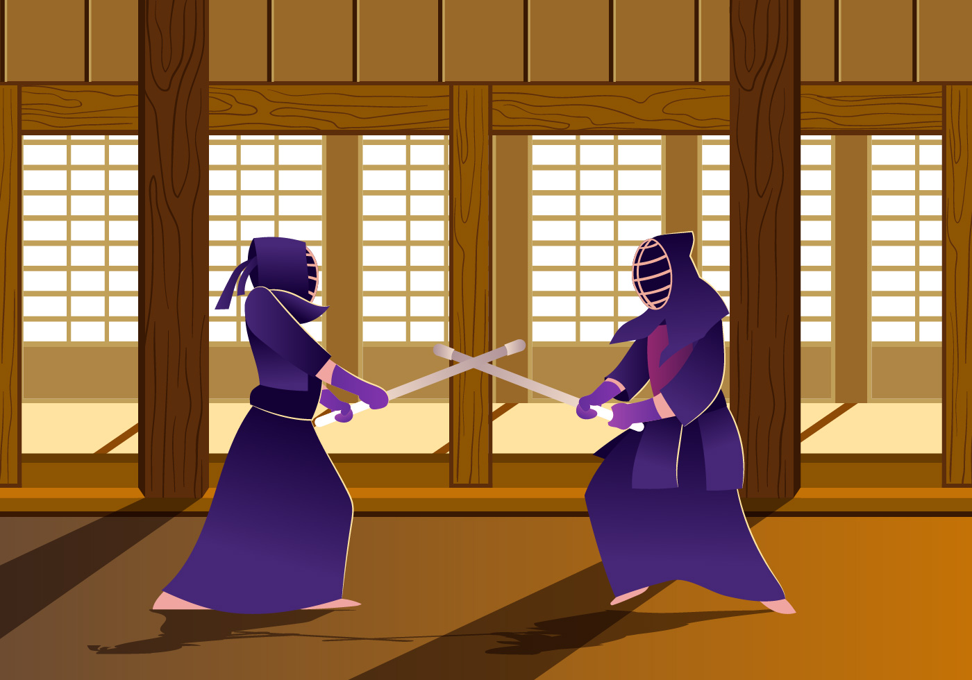 Martial Arts Silhouette Punch