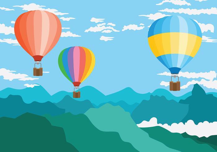 Hot Air Balloon Vector Background