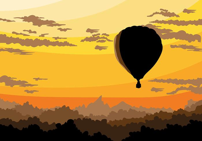 Hot Air Balloon Vector Bakgrund