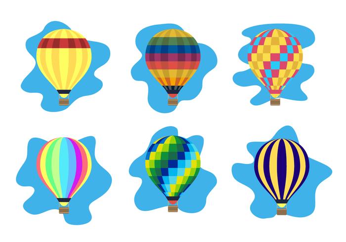 Vecteur de ballon à air chaud coloré
