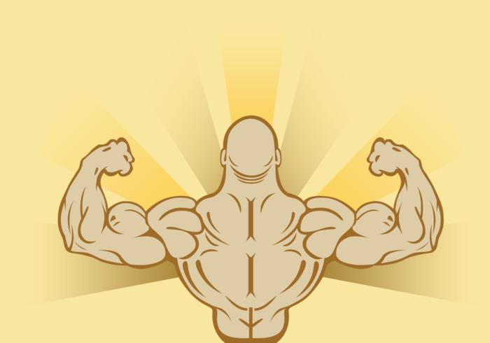 Flexing Man Background Vector