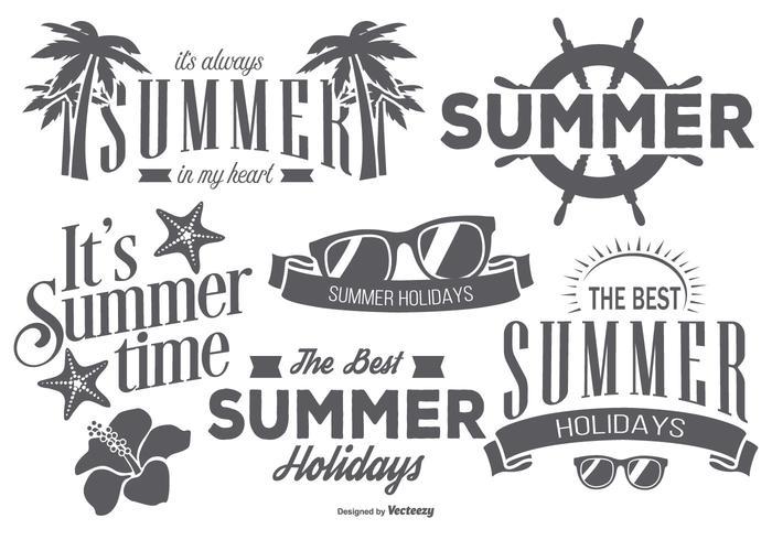 Etiquetas retros do verão