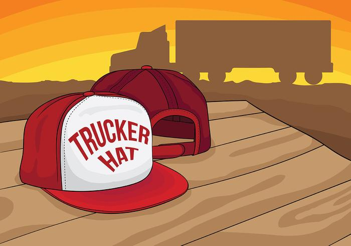 Trucker Hat Vector Background