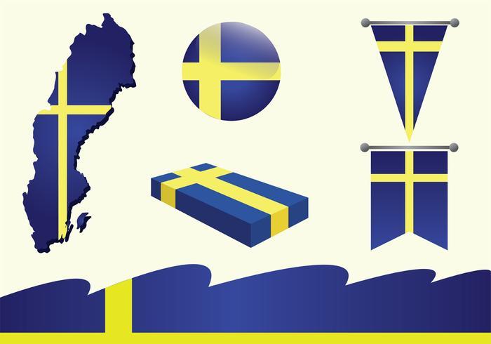 Sverige Vector Pack