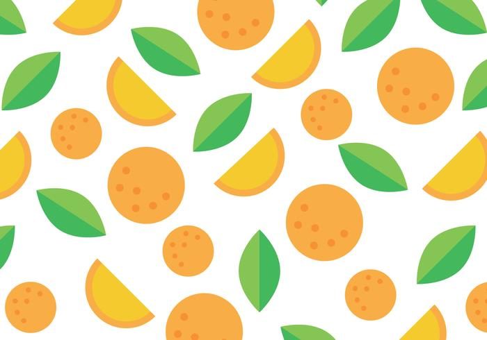 Orange And Green Clementine Pattern