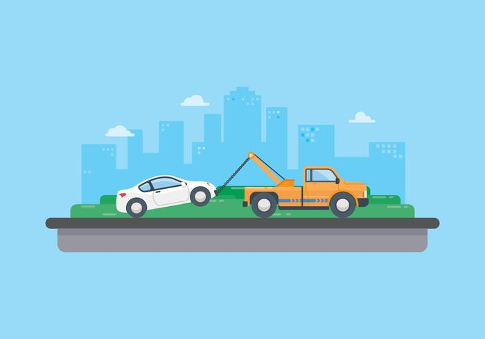 Free Towing Car Illustration