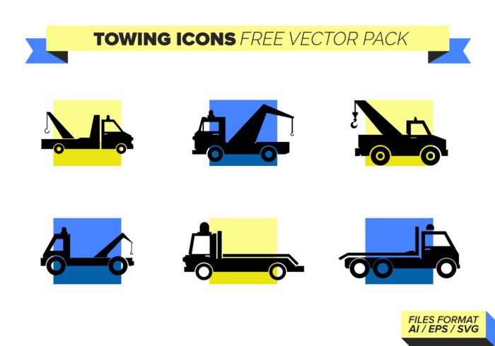Towing Icons Free Vector Pack
