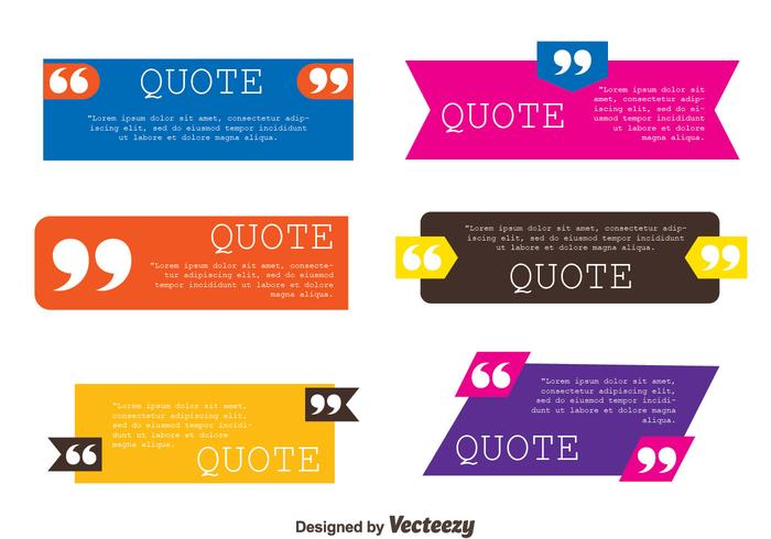 Testimonials Quote Template Collection Vectors