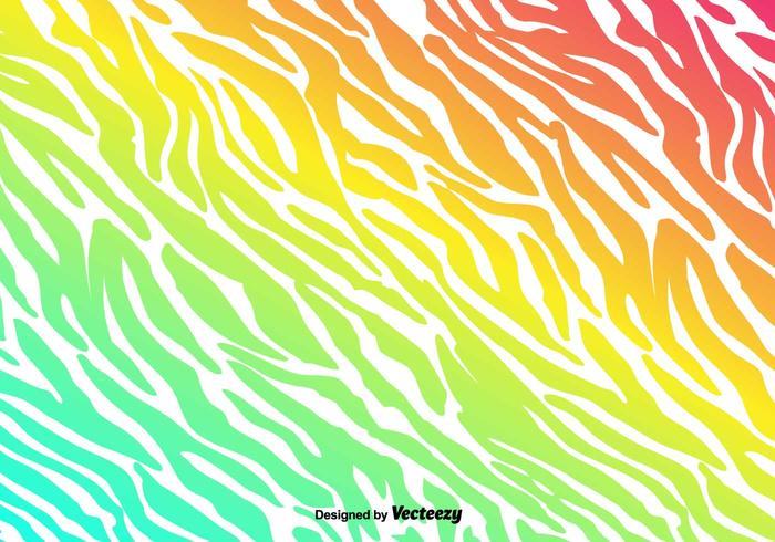 Vector Colorful Zebra Stripes Background
