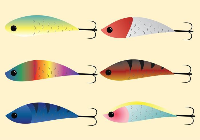 Pesca, Tackle, vetorial, pacote