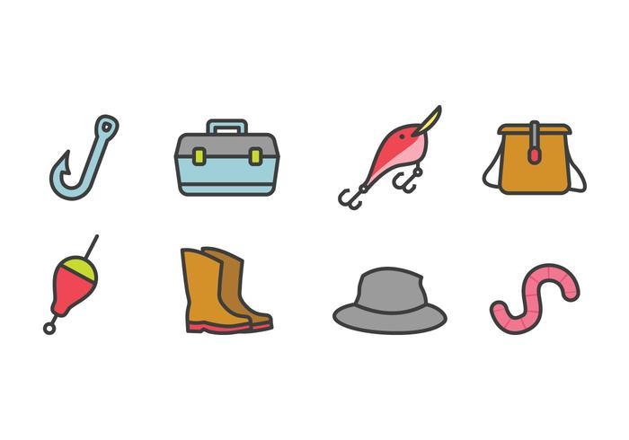 Fiske ikonuppsättning