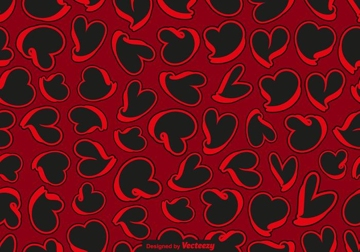 Abstract Hearts Seamless Pattern - Vector