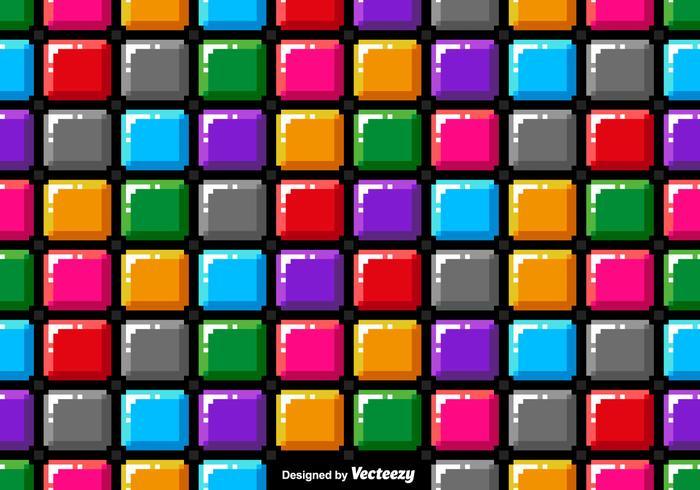 Vector Pixel Art Colorful Blocks Seamless Pattern