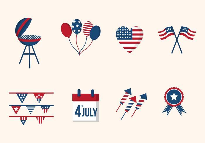 Plano EE.UU. vectores Día de la Independencia