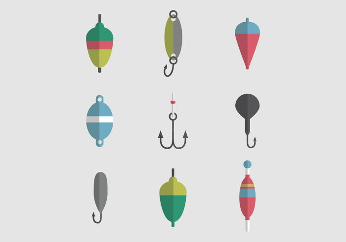 Colorful Set Of Fishing Tackles